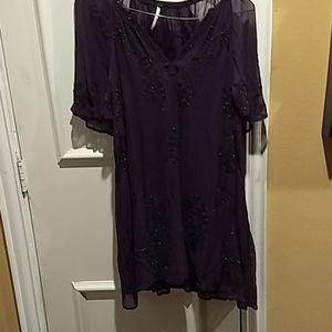💜Free  peaple mini 👗 dress sz(XS-TP)